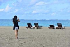 Seashore in Seminyak, Bali Royalty Free Stock Photos