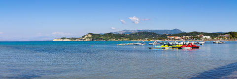 Seashore in Sidari  on Corfu island, Greece Royalty Free Stock Photography