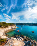 Seashore in Sithonia, Northern Greece royalty free stock photography