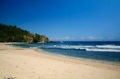 Seashore Siung plaża Obrazy Stock
