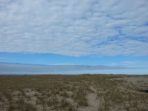 Seashore and Sky. View from Provincetown beach, near the Lifesaving Station Museum Stock Photography