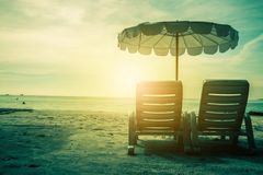 Seashore spa door het overzees royalty-vrije stock foto's