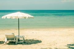 Seashore spa door het overzees stock foto
