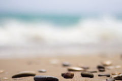 The seashore with stones Royalty Free Stock Image