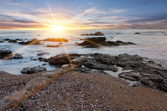 Seashore sunlight Royalty Free Stock Image