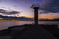 Seashore sunrise Stock Photo