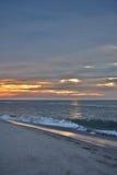Seashore Sunrise on a Summer Morning. The sunrises over the ocean on a summer morning at the shore Royalty Free Stock Photos
