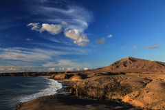 Seashore at sunset Royalty Free Stock Images