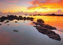 Seashore during Sunset Stock Photography
