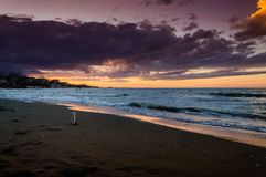 Seashore Sunset Stock Images