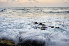 Seashore after sunset Stock Image