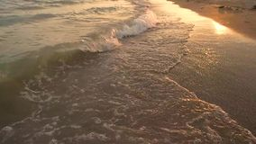 Seashore at sunset, slow-mo. stock footage