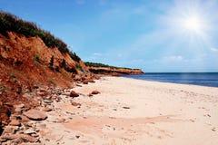Seashore sunshine stock photography