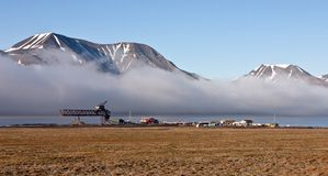 Seashore on the Svalbard near Longyearbyen Royalty Free Stock Photos