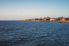 Seashore in Sweden. A small town by the sea in Sweden Stock Images