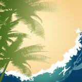 Seashore tło royalty ilustracja