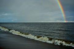 Seashore tęcza i szybki q Zdjęcie Stock