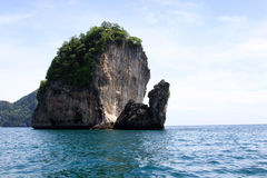 Seashore with tall rocks, Andaman Sea Royalty Free Stock Image