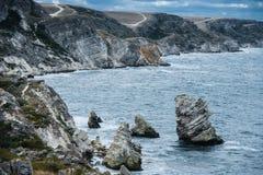 Seashore, Tarhankut, Dzhangul Crimea, Rosja Obraz Royalty Free