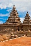 Seashore Temple. Old seashore temple at Mahabalipuram, India Stock Photography