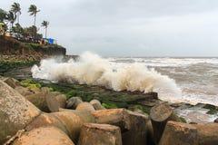 Seashore Tide. Tide on a seashore of Goa Royalty Free Stock Photo
