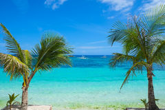 Seashore of tropical island Stock Photos