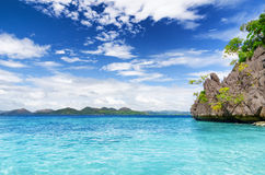 Tropical seashore. Palawan province, Philippines Royalty Free Stock Photography
