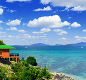 Tropical resort. Red sea view house Royalty Free Stock Photo