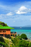 Tropical resort. Red sea view house Royalty Free Stock Images