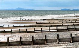 Seashore by Tywyn, north Wales, United Kingdom stock photo