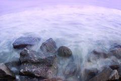 Seashore ujawnienia długa fotografia Obrazy Stock