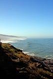 Seashore view. View of a beautiful shoreline beach near Sintra, Portugal Stock Photo
