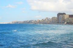 Seashore w Aleksandria Fotografia Stock
