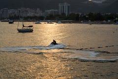 Seashore w minutach zmierzch Obrazy Royalty Free