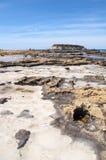 Seashore w przy Paphos, Cypr Zdjęcia Stock
