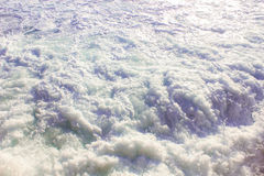 Seashore Waves and Mountain under the Sunshine in Matrouh, Egypt Royalty Free Stock Photography