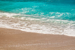 Seashore, waves and sandy beach. Travel Stock Photography