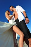 Seashore wedding (bride and groom) Stock Photo