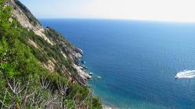 Seashore wyspa, panoramiczny widok Zdjęcia Royalty Free