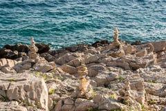 Seashore Valdarke with zen pebbles Stock Images