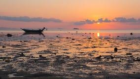 Seashore zmierzchu krajobraz, Tajlandia Widok Koh Phangan isl Zdjęcia Stock