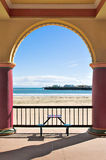 Seaside. An archway opening onto the Pacific royalty free stock images