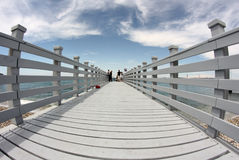 Seaside. Gray sea jetty in Koper, Slovenia Stock Image