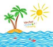 seaside illustration stock