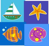 Seaside royalty free illustration