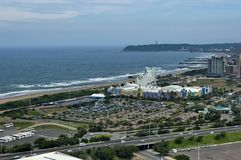 Seaside above view to Durban coast Royalty Free Stock Images