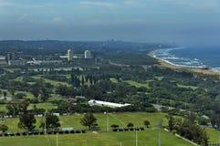 Seaside above view to Durban coast Royalty Free Stock Photo