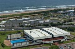 Seaside above view to Durban coast Royalty Free Stock Photos