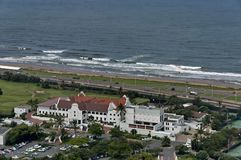 Seaside above view to Durban coast Royalty Free Stock Photography