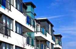 Seaside apartments royalty free stock image